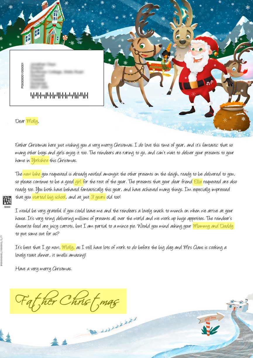 Big Santa Letter - Personalised Letters From Santa Claus
