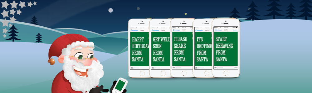 Personalised Text Messages On Demand from Santa